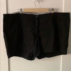 Black Torrid stretch trousers shorts